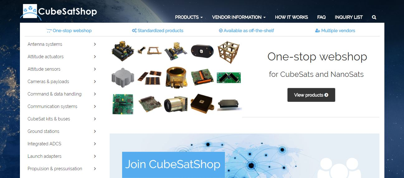 CubeSatShop com - One-stop webshop for CubeSats & Nanosats