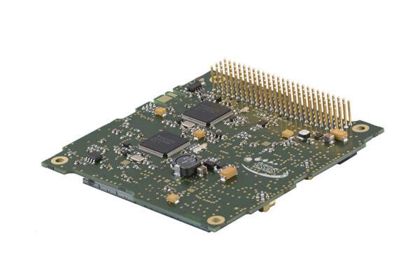 UHF downlink-VHF uplink full duplex transceiver