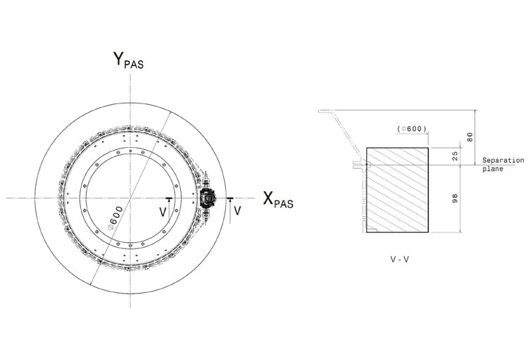 Illustrative drawing and Nominal Release Envelope