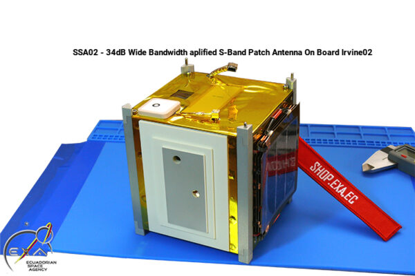 EXA SSA02- 34dB Wide Bandwidth amplified S-band Patch Antenna 6